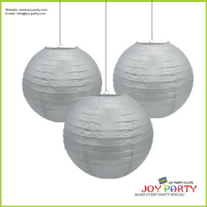 Silver Paper Lantern for Home Decoration pictures & photos
