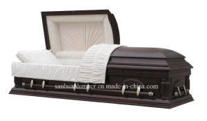 American Style Poplar Wood Casket 003A pictures & photos