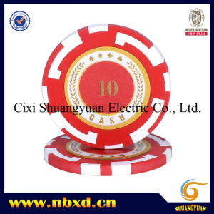 14G 2-Tone Strip Clay Poker Chip with Custom Stickers (SY-E13) pictures & photos