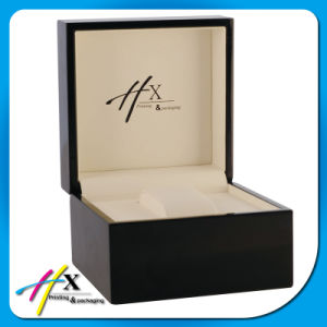 Basic Square Matte Black Luxury Wooden Watch Packaging Box pictures & photos