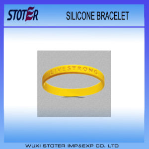 2016 Custom Embossed Printed Logo Silicone Bracelet/Rubber Bracelet/Silicone Wristbands pictures & photos
