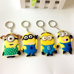 Promotion Gift Hot Sale Cartoon Silicone Rubber Key Chain pictures & photos