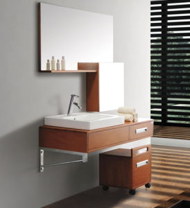 Oak Veneer Bathroom Vanity #Yjb-2012 (5) pictures & photos