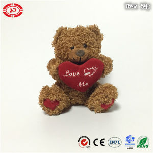 Brown Plush Sitting Teddy Bear with Heart Valetines Soft Toy pictures & photos