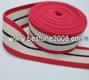 High Quality Cotton Webbing with Stone Wahsing 1603-52A pictures & photos