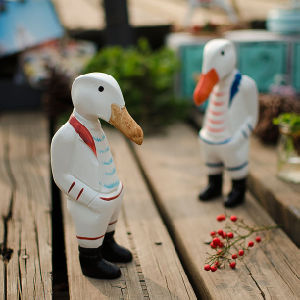 Retro Style Two Duck Home Decor Ornament Table Decoration Resin pictures & photos