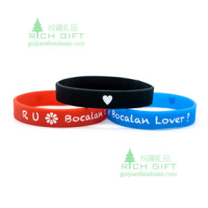Eco-Friendly Fitness Rubber Wristband with Pantone Color pictures & photos