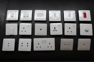 2015 New Design UK Line Wall Switch Socket pictures & photos