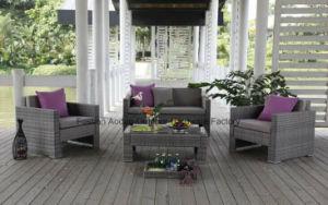 Fashion Outdoor Rattan Wicker Sofa in Garden Set