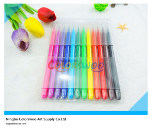 12PCS Fiber Tip Water Color Pen for Kids and Students pictures & photos