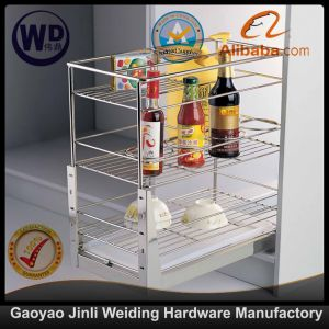 Pull Roll out Wire Larder Drawer Storage Basket B250 pictures & photos