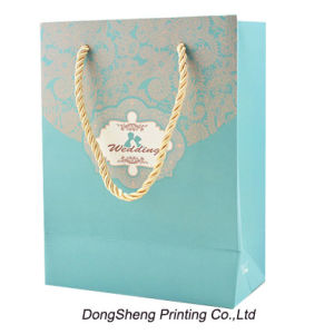 Delicate Paper Gift Shopping Bag with Hot Stamp for Clothes pictures & photos