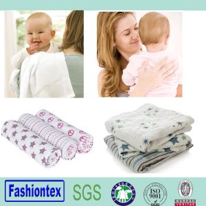 Cotton Printed Muslin Fabric Muslin Baby Bath Towel pictures & photos