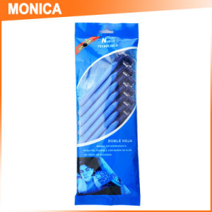 Monica 10PCS Pack in a Polybag, Triple Blade Disposable Shaving