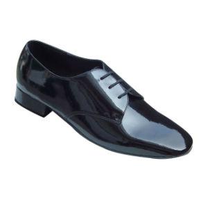 Black Patent Leather Men′s Ballroom Dance Shoes pictures & photos