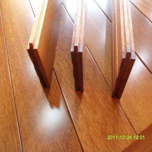 Indoor New Design Smooth Iroko Solid Wood Flooring pictures & photos