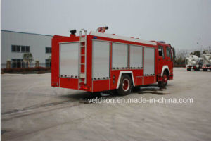 HOWO Brand Fire Truck with 8m3 Water Tank pictures & photos