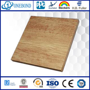 Wood Grain Aluminum Honeycomb Panel pictures & photos