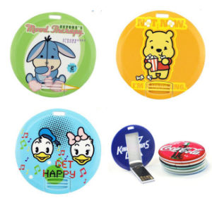 Customized Printed Circle/Round Business Card USB 4GB Flash Drives pictures & photos