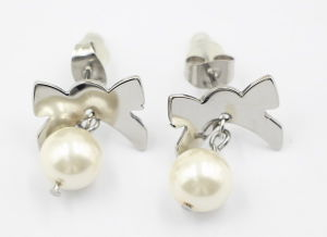 Fashion Jewelry 316L Stainless Steel & Pearl Earrings pictures & photos