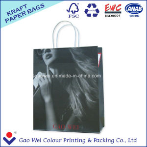 Shopping Bag White Kraft Paper Bag for Clothing pictures & photos