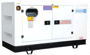 Guangzhou 75kVA/60kw 3 Phase Four Strokes Water Cooling Diesel Soundproof Cummins Engine Generator