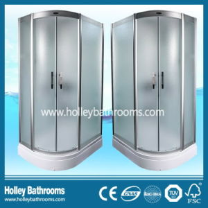 L Shape High Quality Shower House with Frosted Glass Door (SR119M) pictures & photos