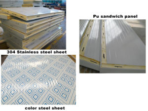 Polyurethane Sandwich Panels Type and Metal Panel Material PU Sandwich Panel pictures & photos
