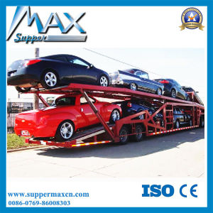 Tri-Axle Two Layers Car Transporter Trailer pictures & photos