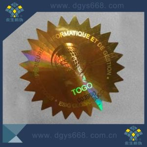 Laser Holographic Adhesive Sticker with Custom Design pictures & photos