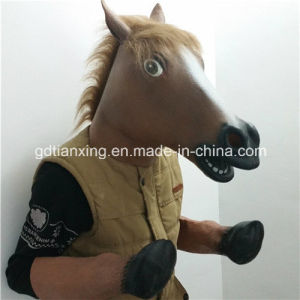 Overhead Latex Horse Head Animal Mask pictures & photos