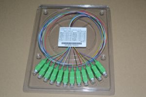 Insetion Loss Less Than 0.15dB Sc APC 9/125 12f Fiber Optic Pigtail pictures & photos