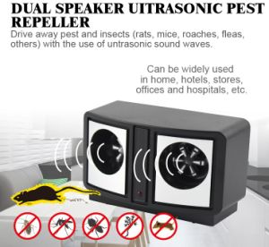 Frequency Conversion Ultrasonic (Dual Speaker) Mouse Repeller pictures & photos