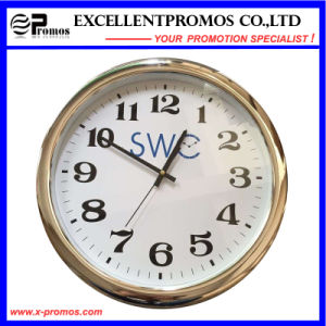 Custom Logo Printing Round Plastic Wall Clock (Item23) pictures & photos
