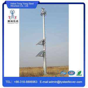 Hot Dipped Galvanized GSM Microwave Steel Pole Tower pictures & photos