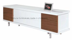 Wooden UV High Gloss TV Cabinet with Revolving Door (NS20-01)