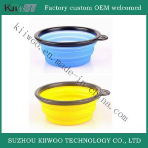 Non-Toxic Food Grade Silicone Colorful Folding Dog Bowls pictures & photos