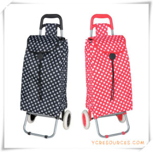 Two Wheels Shopping Trolley Bag for Promotional Gifts (HA82009) pictures & photos