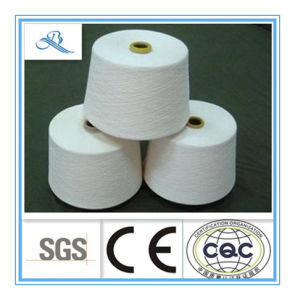 Row White High Quality Combed Polyester/Cotton Yarn T65/C35 32s pictures & photos