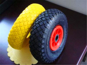 3.00-4 Plastic Rim Rubber Wheels
