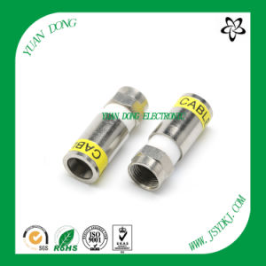 RG6 Cable Compression Type F Male Customized Connector pictures & photos
