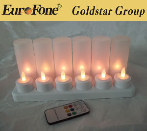 Rechargeable Candle LED Lamp W/ Charger Kit - White (12-Pack) pictures & photos