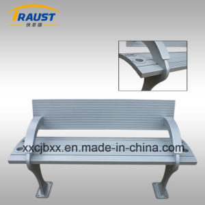 Outdoor Furniture Aluminum Bench with Back/Garden Metal Bench pictures & photos