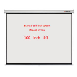 Manual Screen Projector Screen Hand Pull Projection