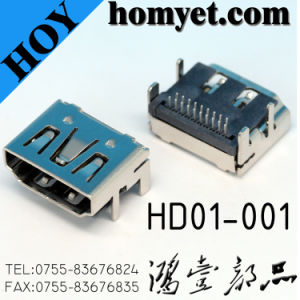 China Professional Manufacturer DIP Type HDMI Micro Connector for Digital Products pictures & photos