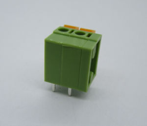 5.08mm PCB Spring Terminal Blocks Straight 2p 3p 4p Available Green Color pictures & photos