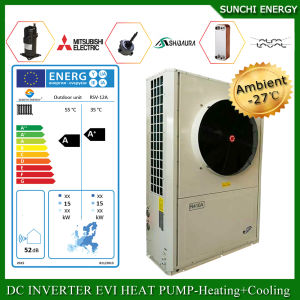 France -25c Winter House Floor Heating 100~350sq Meter Room 12kw/19kw/35kw Evi Tech. Auto-Defrost Split Indoor 5 Ton Heat Pump pictures & photos