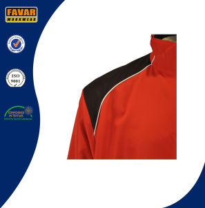 210t Polyester with PVC Coating Rain Jacket pictures & photos