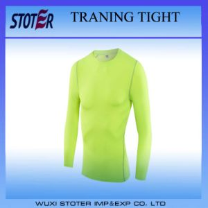 Blank Dry Fit Tight Sports Men Training Shirt pictures & photos