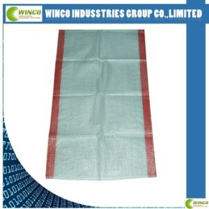 Hottest Sales! blue PP Woven Bags (sacks) with Red Strips for Poland Market pictures & photos